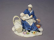 Meissen Figur Mutter mit Kind